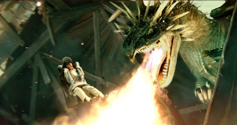 大阪環球影城哈利波特,感受飛龍的炙熱火焰