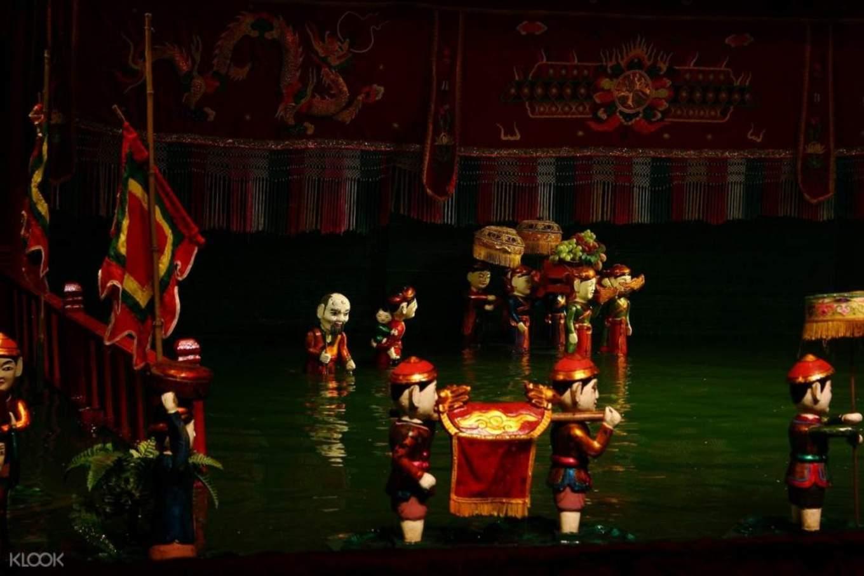 水上木偶戲劇院,聆聽美妙的歌聲,觀看河內最具民族特色的舞台表演