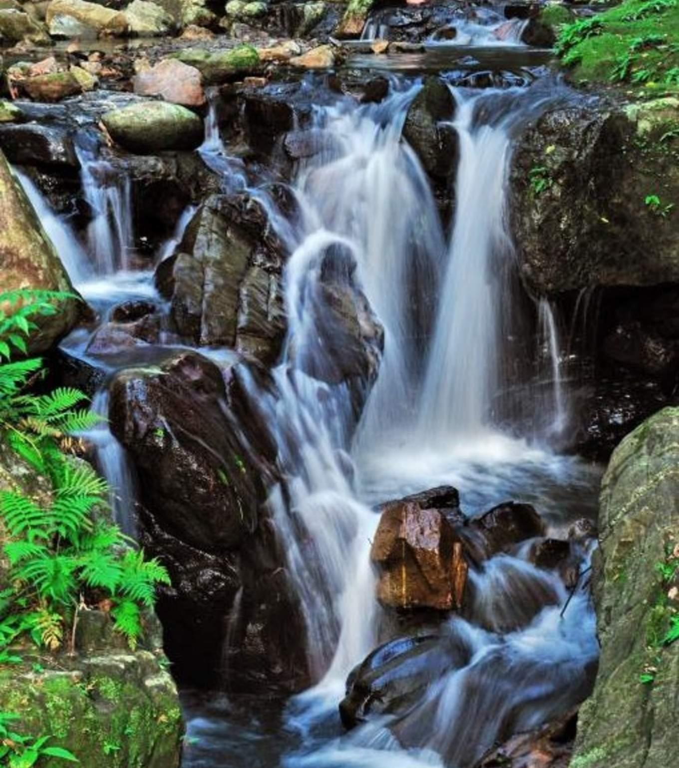 五峰旗瀑布,圖片取自礁溪觀光旅遊網。