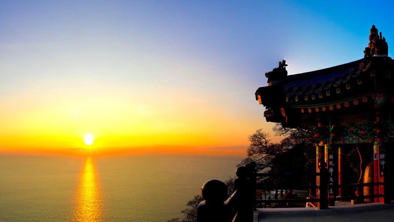 向日庵迎來 韓國跨年 完的曙光