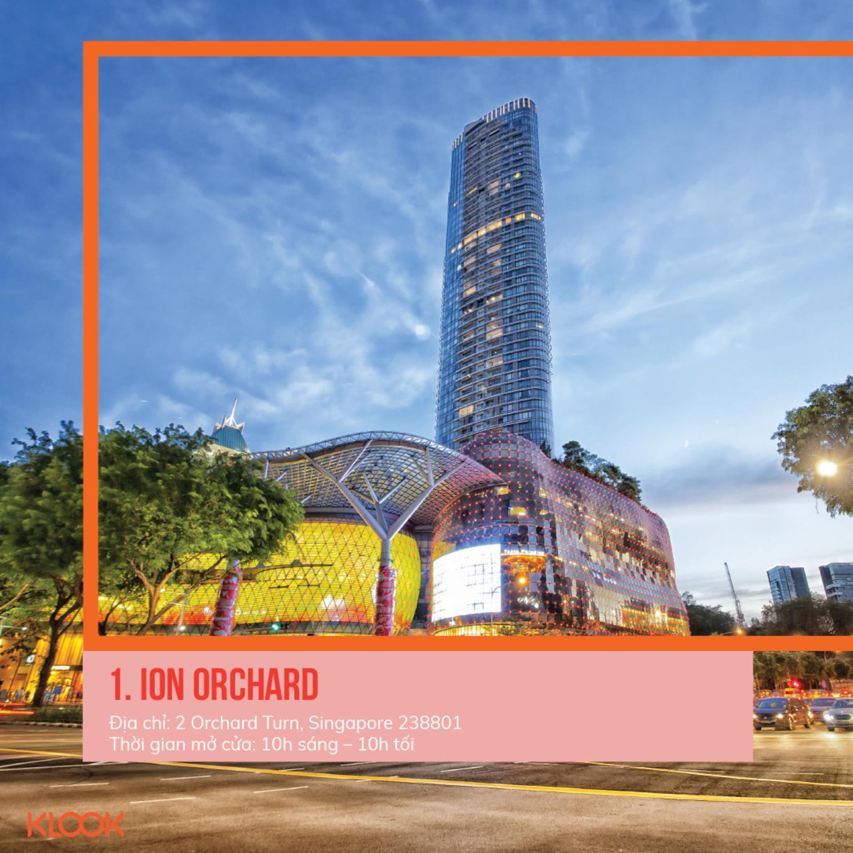 ION orchard là một trong 7 khu mua sắm ở singapore bạn phải đi trong dịp giảm giá