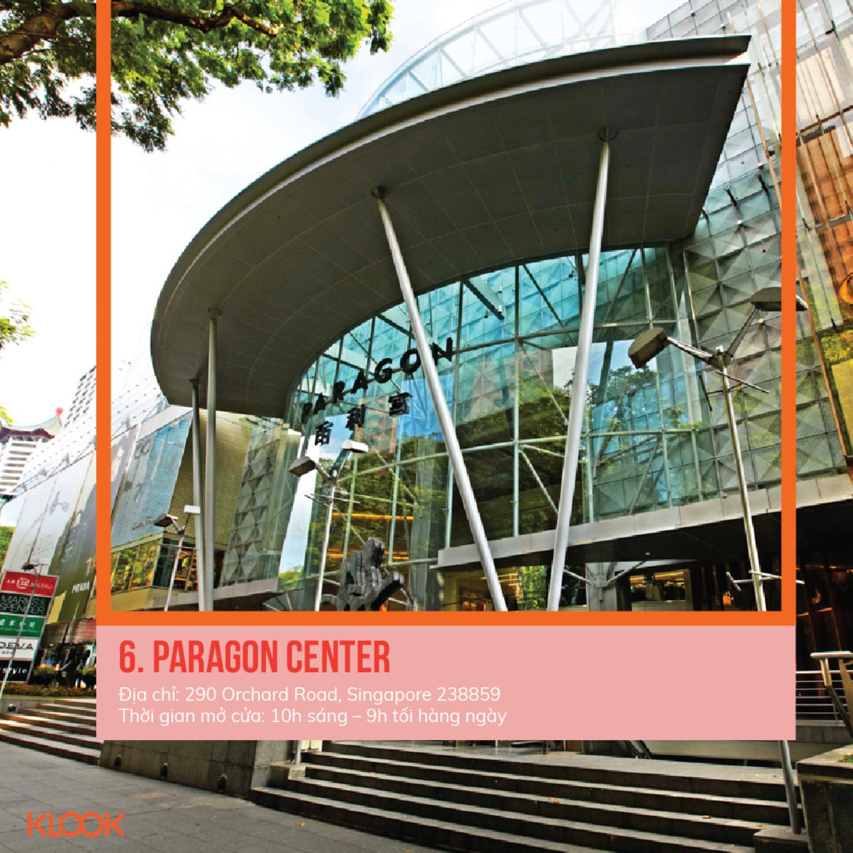 paragon center là một trong 7 khu mua sắm ở singapore bạn phải đi trong dịp giảm giá