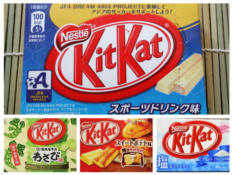 kitkat đặc biệt là một trong những món ăn kết hợp hương vị kỳ cục nhất ở Nhật Bản