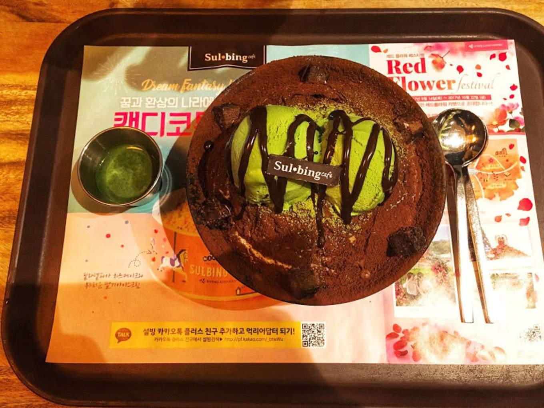 bingsu trà xanh là một món ngon trong nền ẩm thực seoul