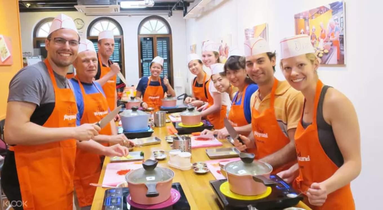 trải nghiệm nấu ăn tại food playground