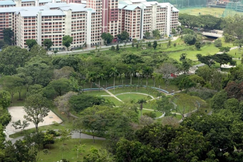 công viên bishan-ang mo kio nhìn từ trên cao