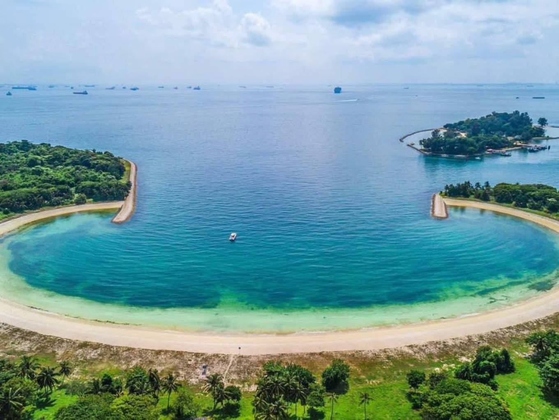 bãi biển của đảo lazarus nhìn từ trên cao