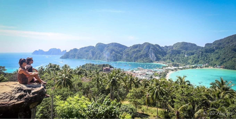 đảo phi phi nhìn từ trên vách núi