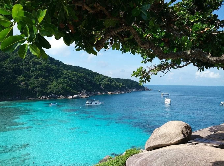 biển tại đảo similan nhìn từ trên cao