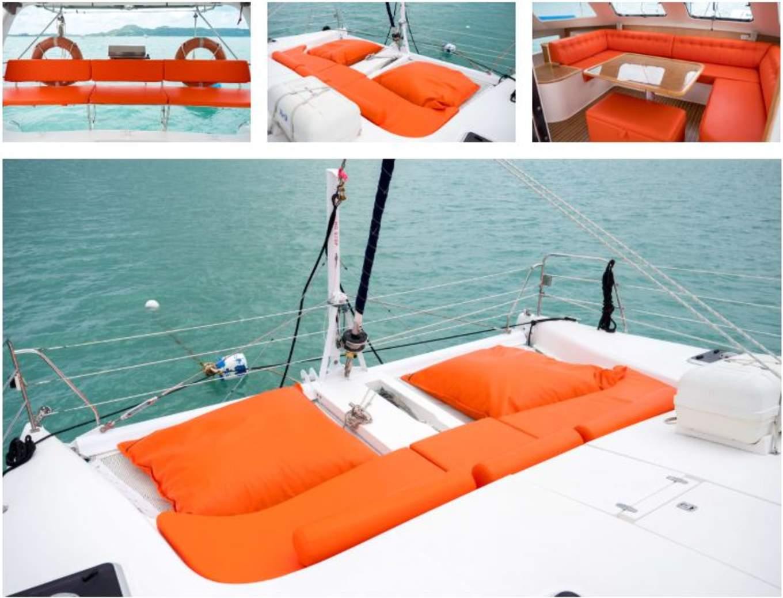 nội thất trên thuyền catamaran của klook
