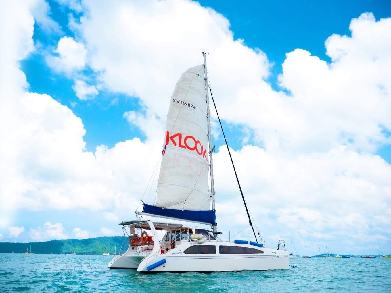 du thuyền của klook đi đảo san hô