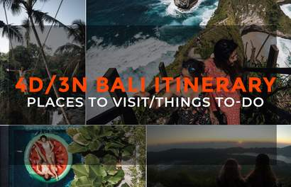 4D/3N Bali Itinerary: Best Places to Visit, Best things-to-do