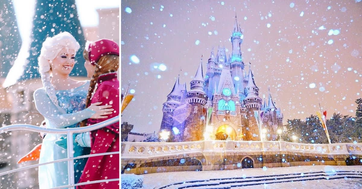 Tokyo Disneyland Snowstorm