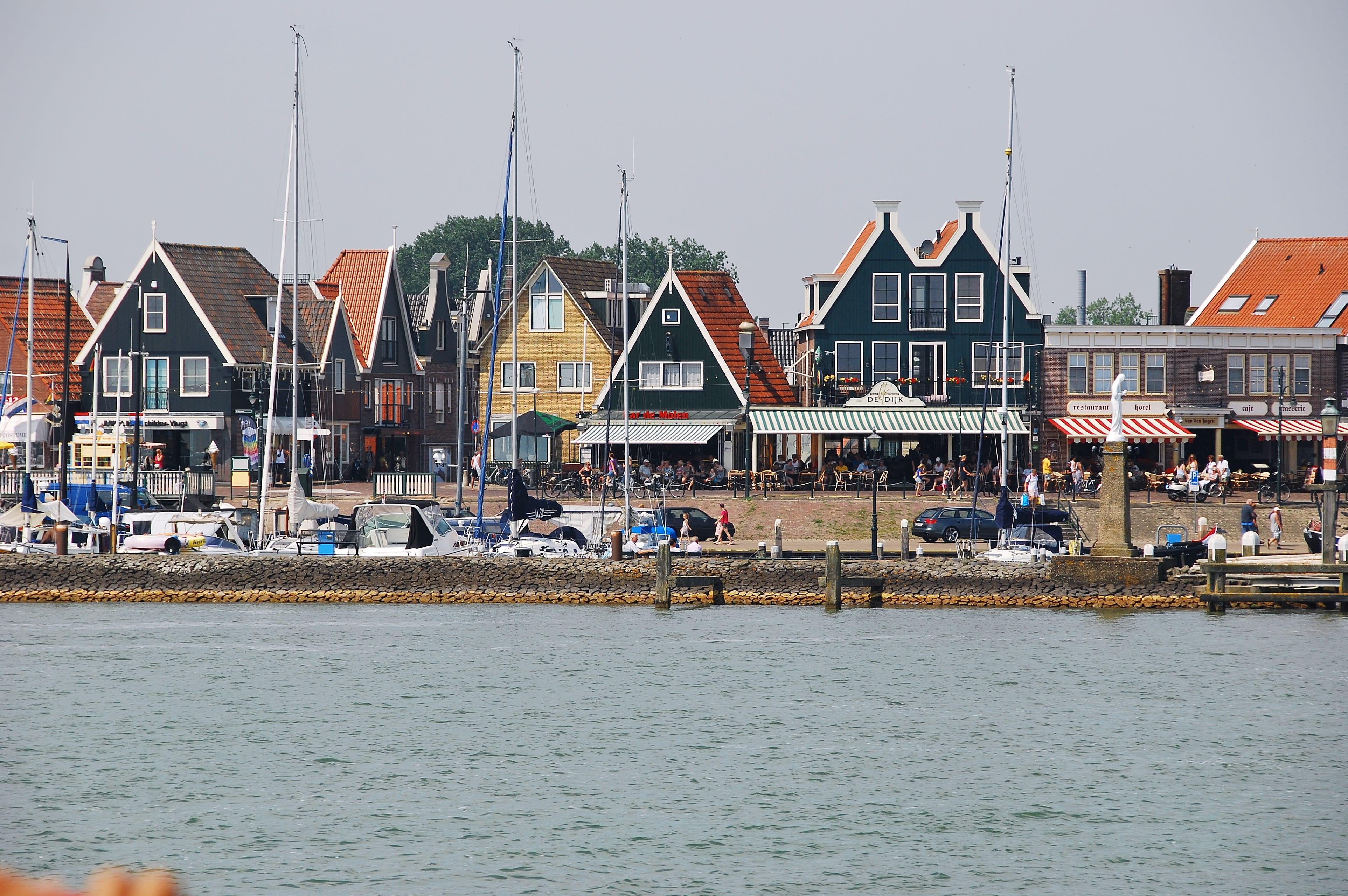 Volendam's historic harbour