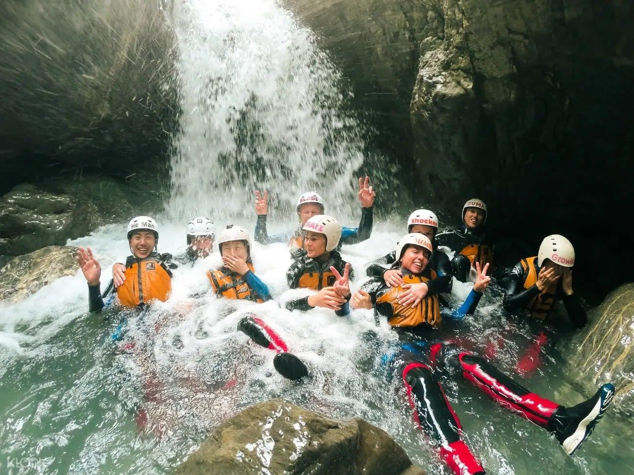 canyoning adventure tour in switzerland