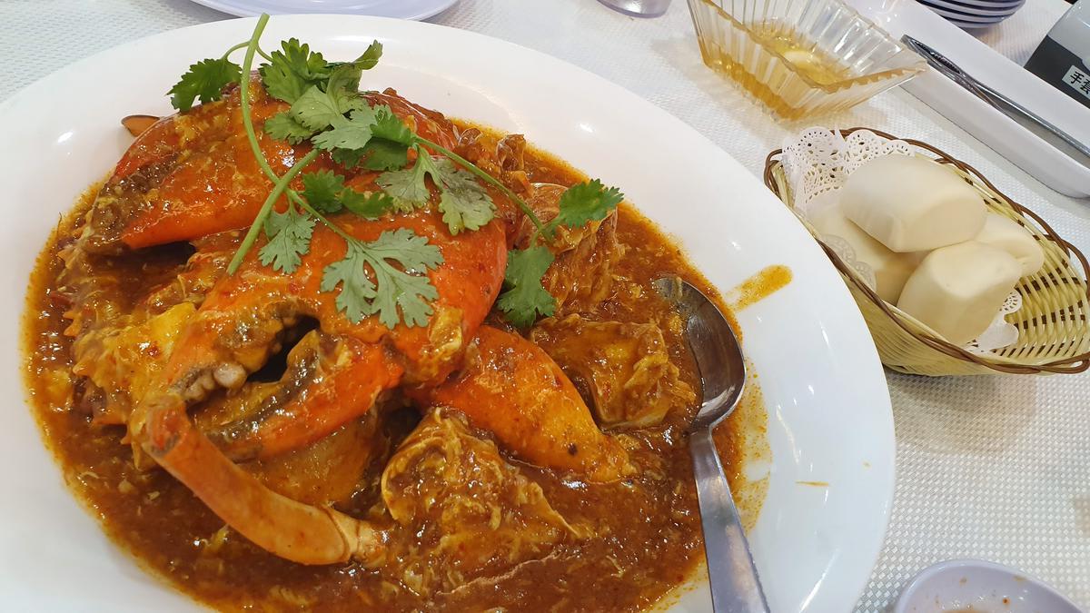 ปูผัดพริก jumbo seafood สิงคโปร์