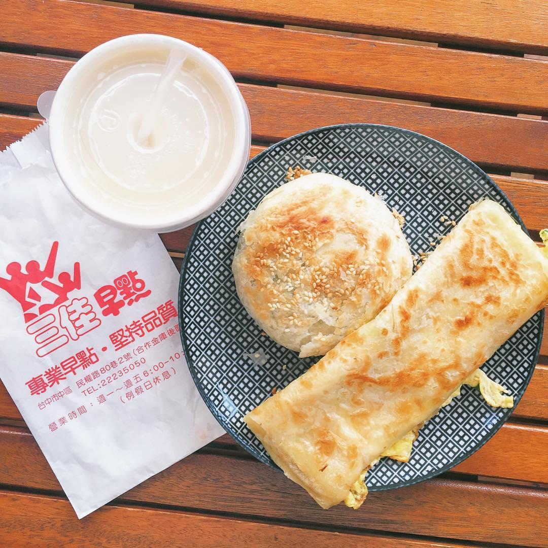 「三佳早點」是台中在地人極力推薦的早餐店。(圖片來源/Instagram-hopelessnessyase)
