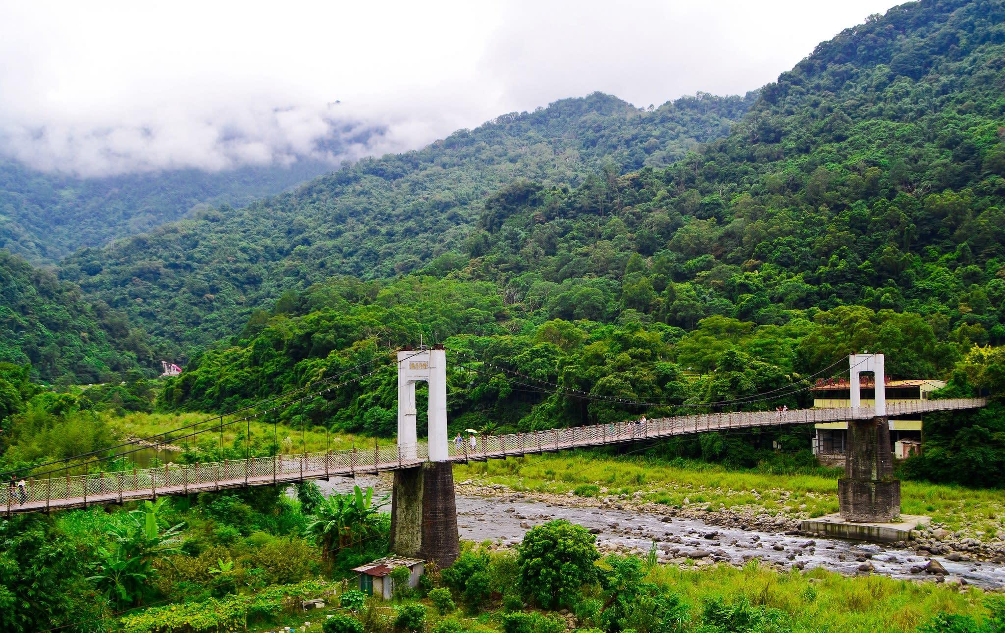 內灣吊橋。(Flickr授權作者-Cy Speed)