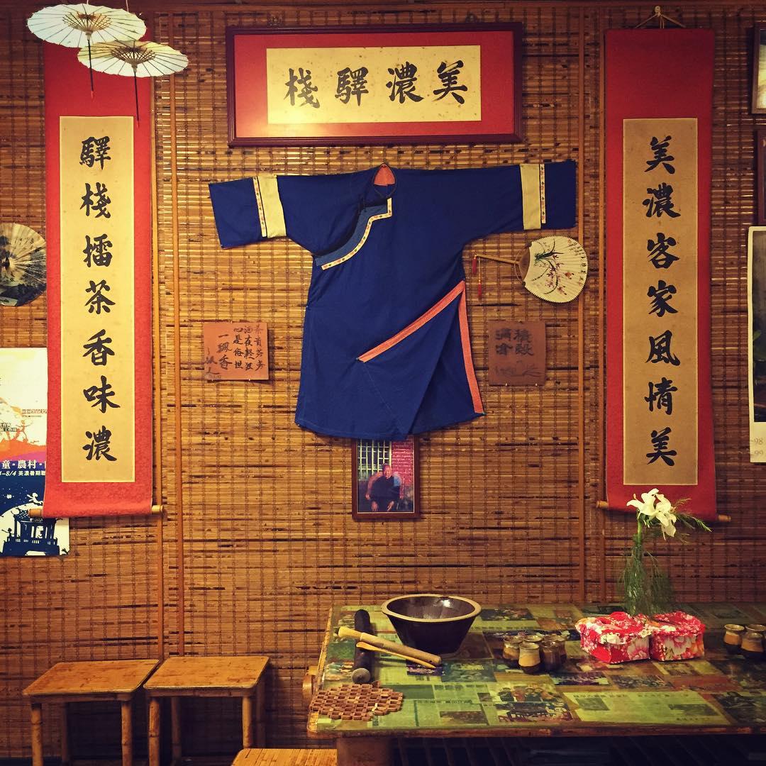 店內有許多客家文物擺飾。(圖片來源/Instagram-kochenlin)