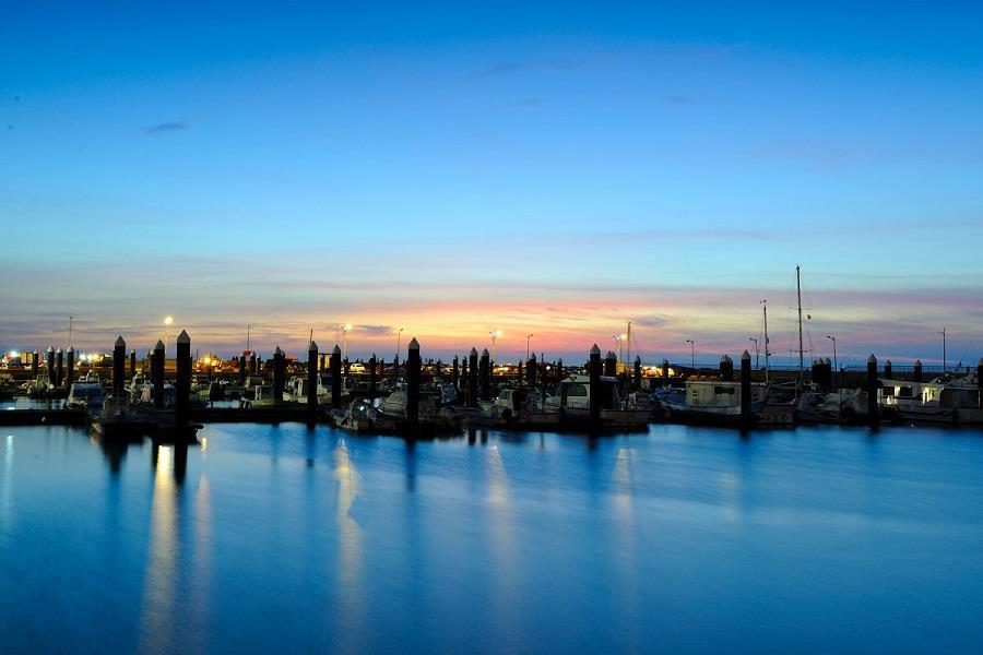 竹 圍 漁 港 有 別 於 一 般 大 漁 港 的 匆 忙 , 在 這 裡 可 以 放 下 腳 步