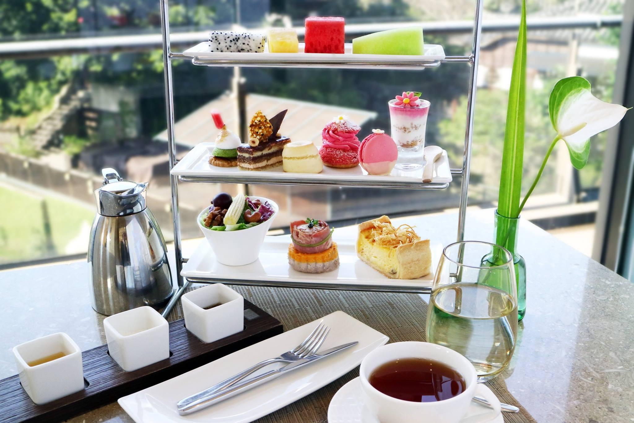 精緻的法式下午茶。(圖片來源/北投麗禧溫泉酒店FB粉絲團)