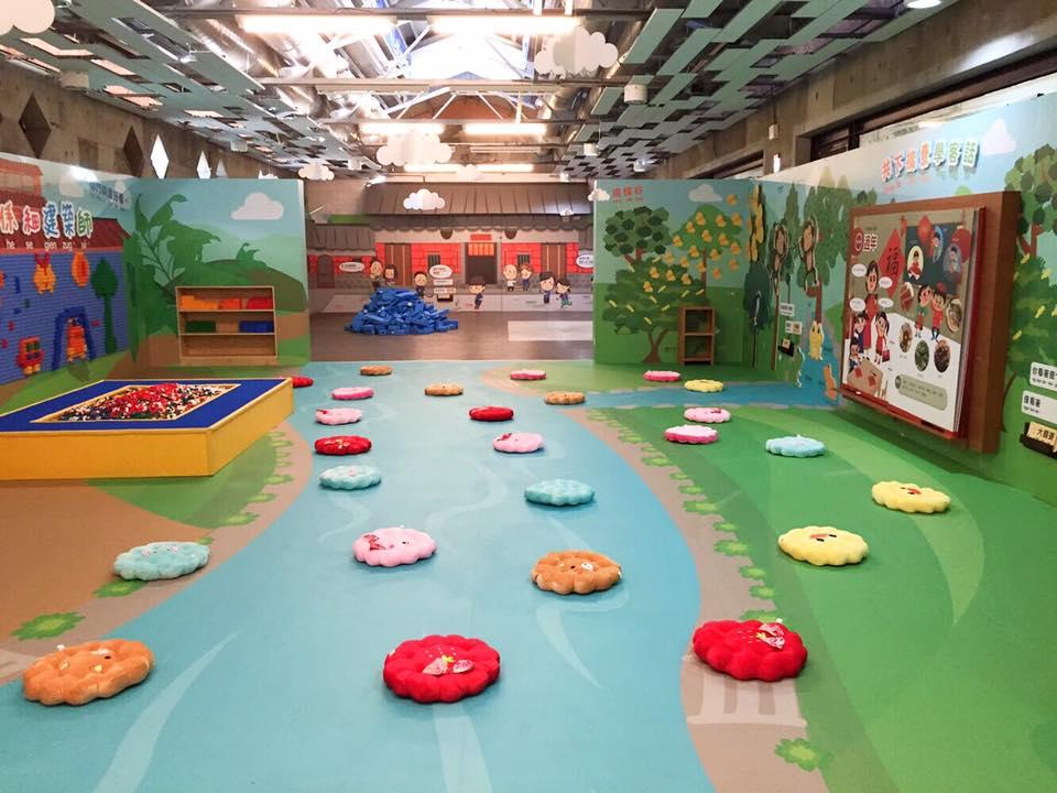 繽紛多彩的兒童探索區。(圖片來源/美濃客家文物館FB粉絲團)