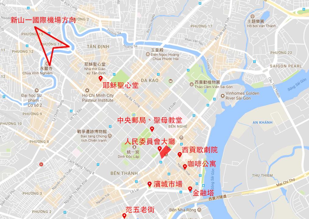 胡志明市區攻略 : 胡志明市區主要景點