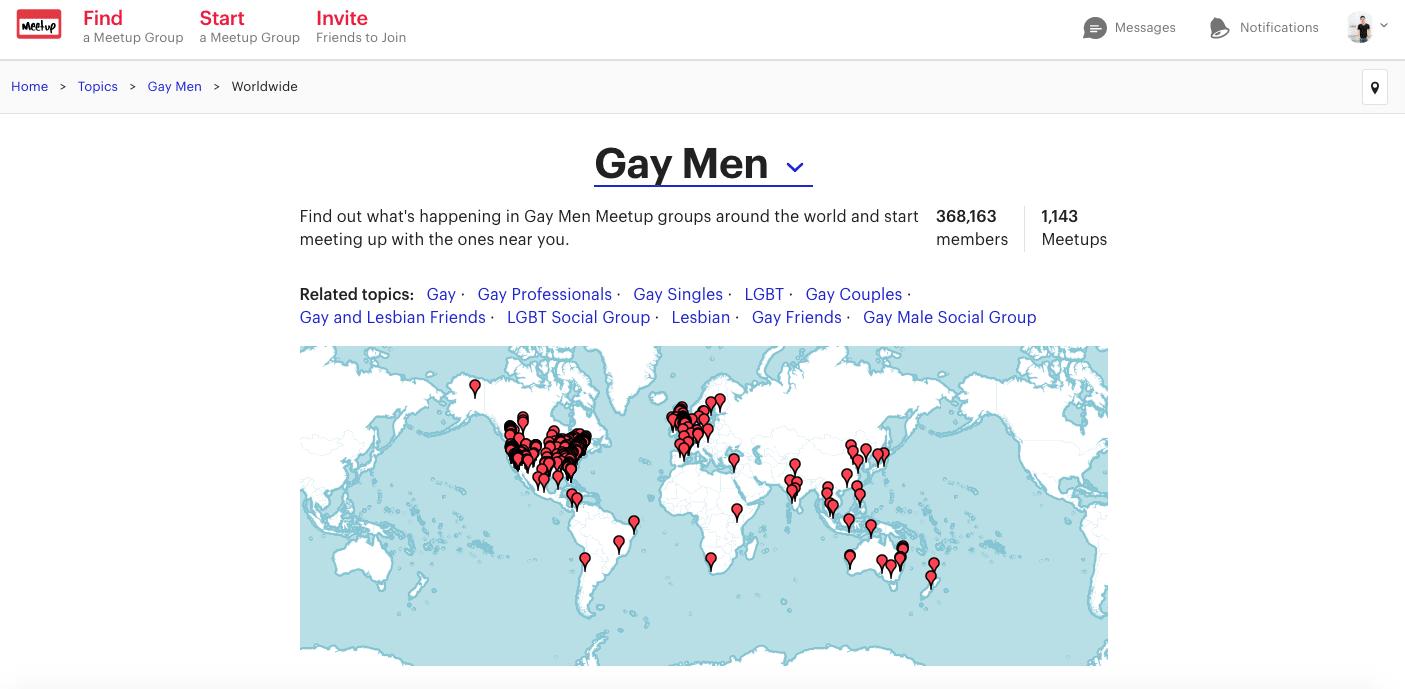 同志交友 Gay Men Group,各 地 的 同 志 社 團 都 可 以 在 Meet Up 找 到