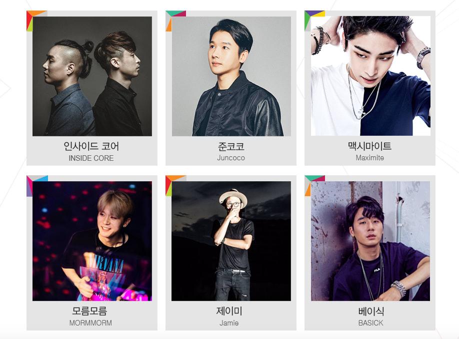 今 年 受 邀 的 歌 手 列 表
