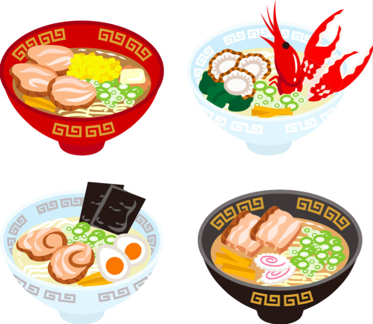 推薦人氣拉麵 日 本 四 種 主 要 口 味 拉 麵