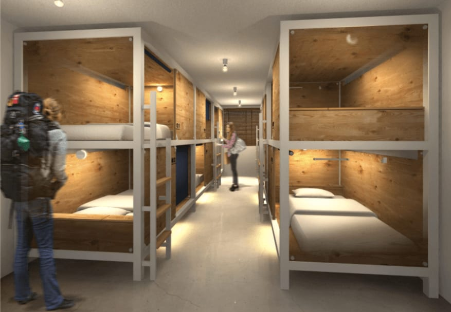 男 女 混 宿 房 間 。圖 片 來 源 : 截 圖 自 官 網