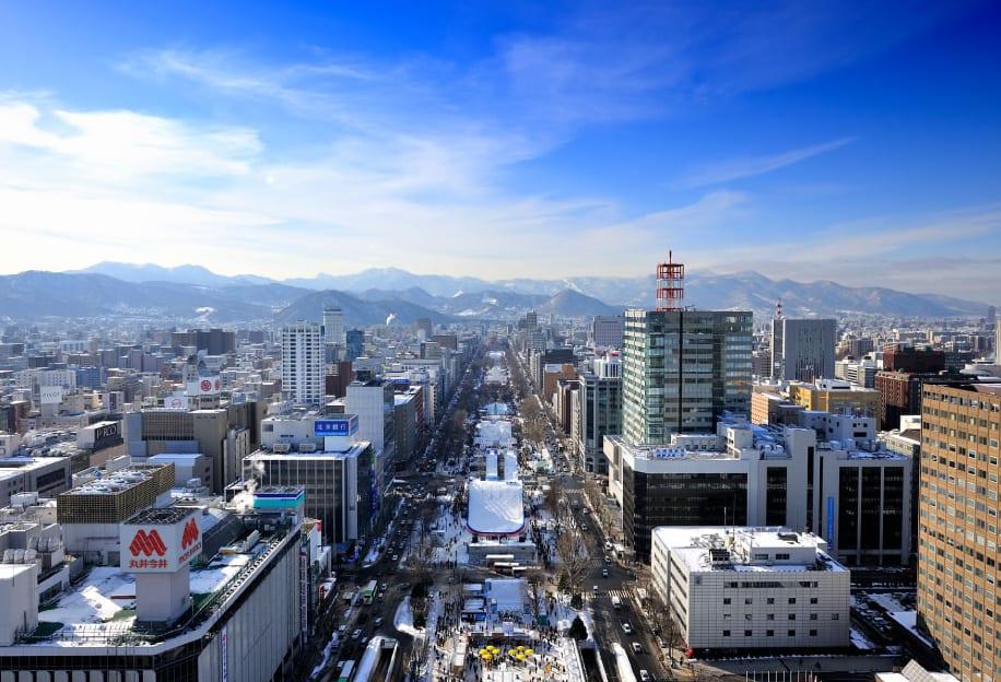 俯 瞰 札 幌 市 中 心 的 大 通 公 園 ( 圖 片 來 源: 官 網 )