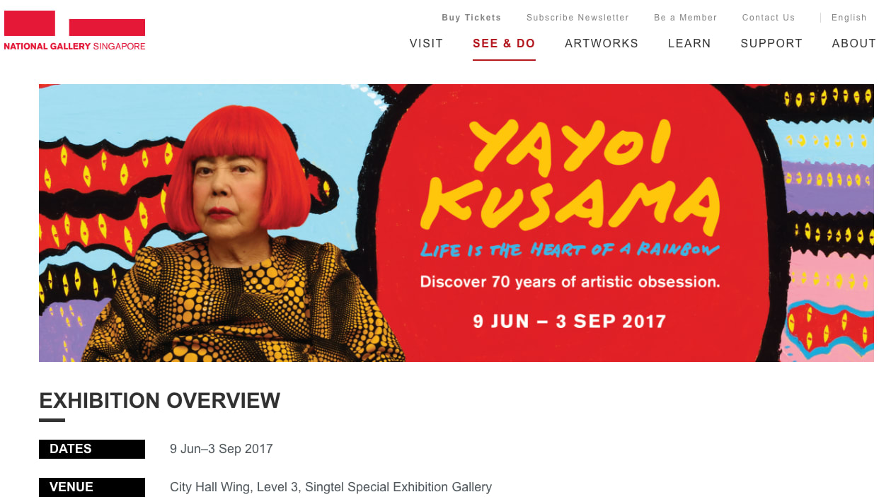 草間彌生 Yayoi Kusama 70 年特展 @ National Gallery
