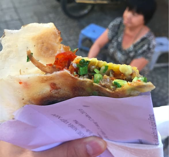 越南必吃 : 蔥烤薄餅