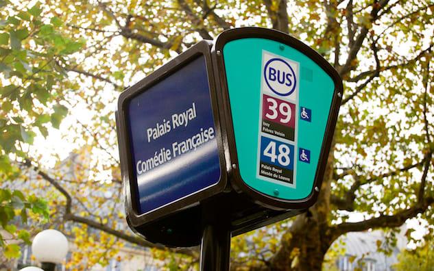 法國巴黎Bus標示圖 photo by parisperfect
