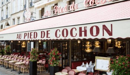 法國巴黎餐廳—Au Pied de Cochon 外觀 photo by Au Pied de Cochon