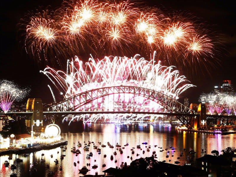 雪梨是全世界第一個迎接2018的城市。(Flickr授權作者-Richard Rydge)