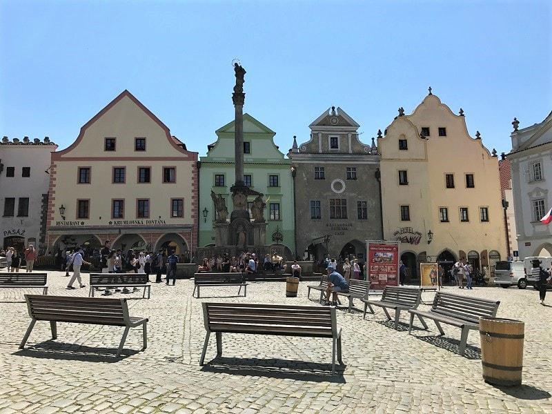 舊城廣場為CK小鎮的中心,廣場上佇立著黑死病紀念柱!