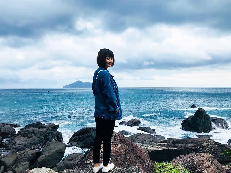 快到北關海潮公園與龜山島合照
