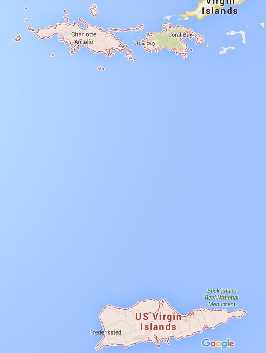 聖 克 羅 伊 距 離 另 外 兩 個 島 , 處 於 較 南 端 的 地 理 位 置 。