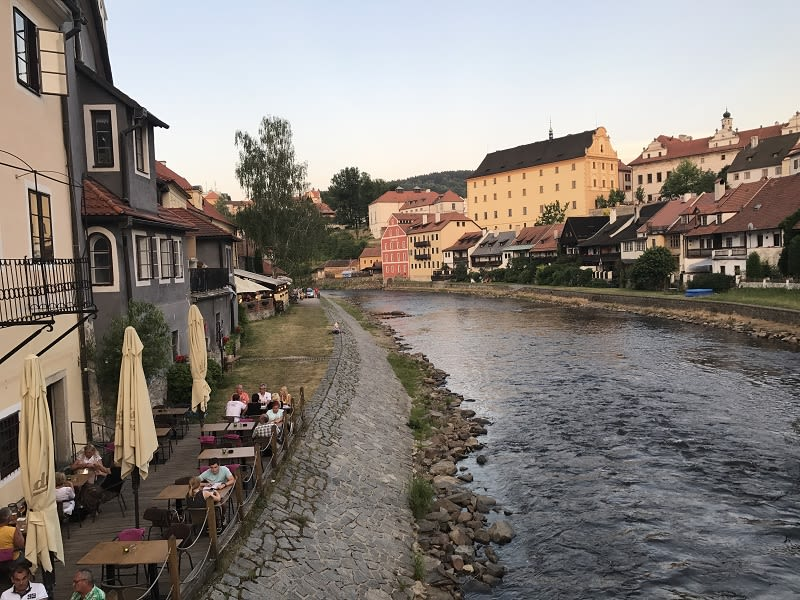 於CK小鎮隨處可見伏爾塔瓦河的身影