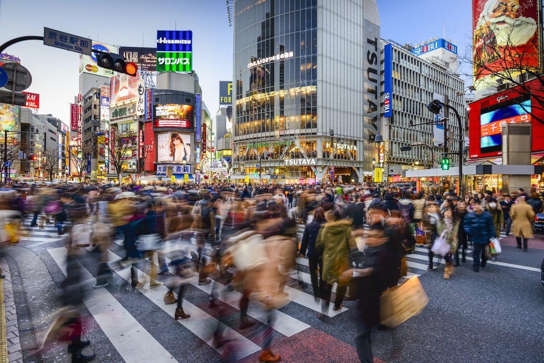 每天都有數以萬計行人通過的澀谷路口。|來源:www.coindesk.com