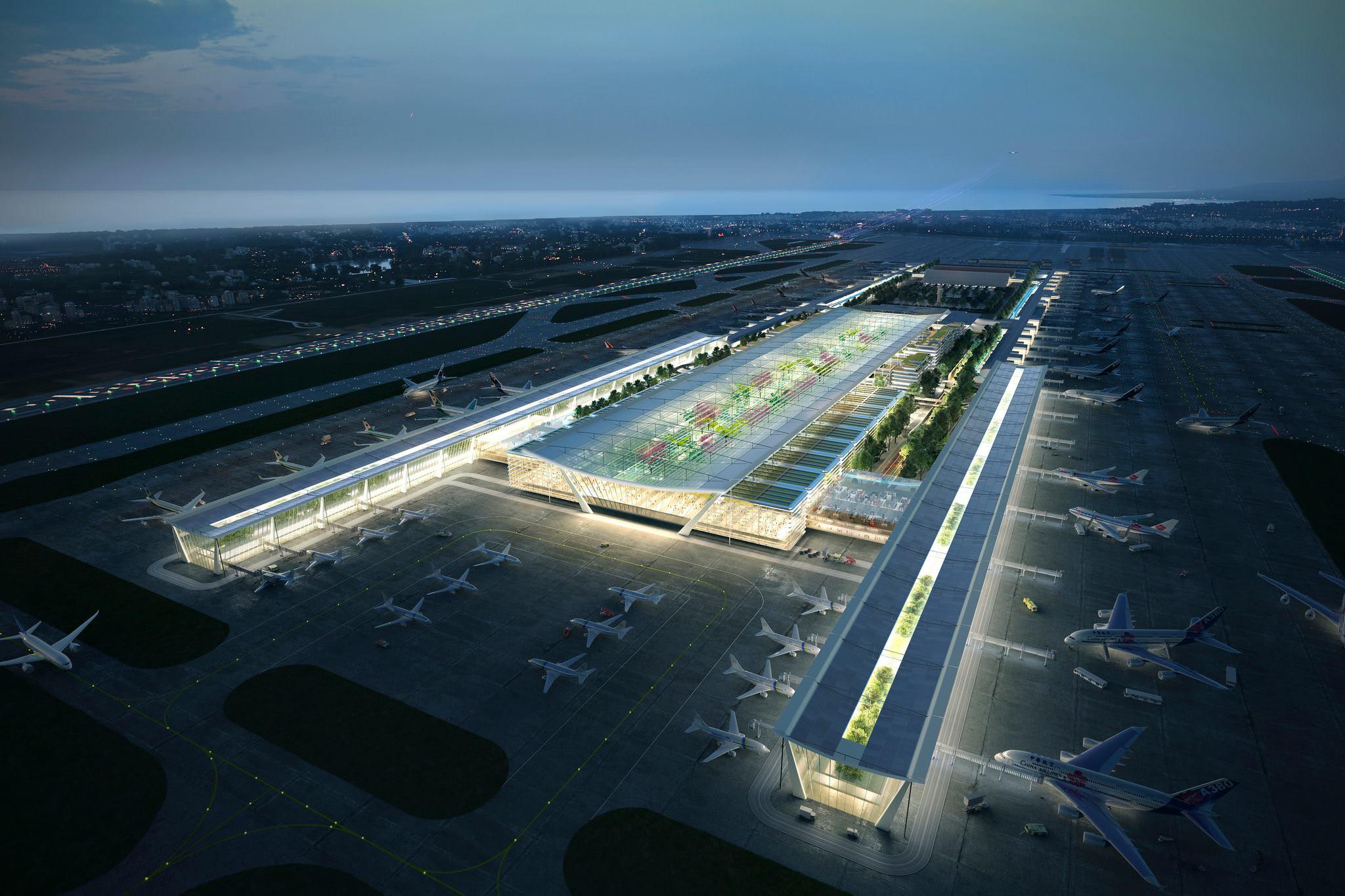 即 將 動 工 的 桃 園 機 場 第 三 航 廈