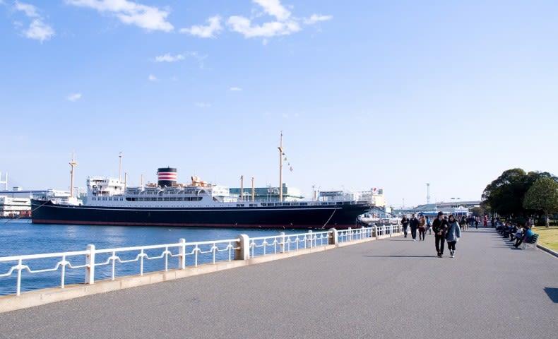 從山下公園眺望的橫濱港。|來源:www.yokohamajapan.com