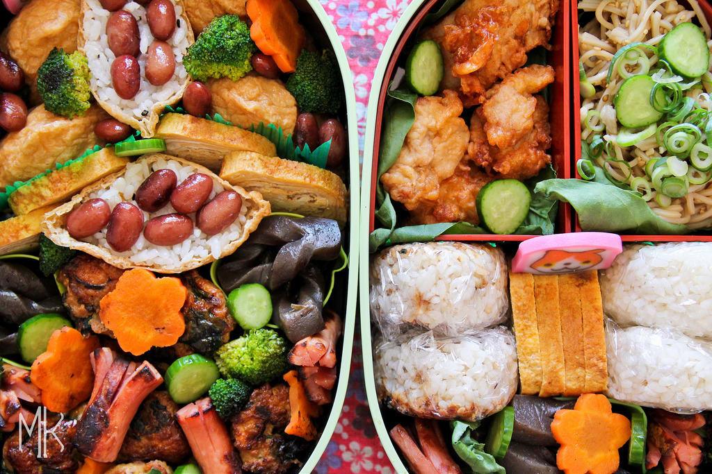 日 本 賞 櫻 飯 糰 便 當 , 療 癒 的 排 列 、 療 癒 的 吃 飽 飽 PHOTO | flickr CC editor Mukashi Mukashi Photography