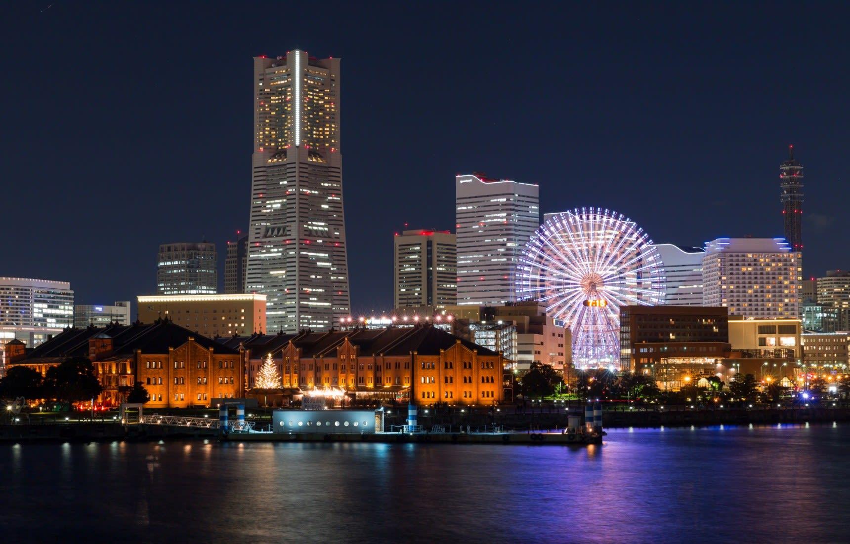 橫濱夜景。|來源:allabout-japan.com