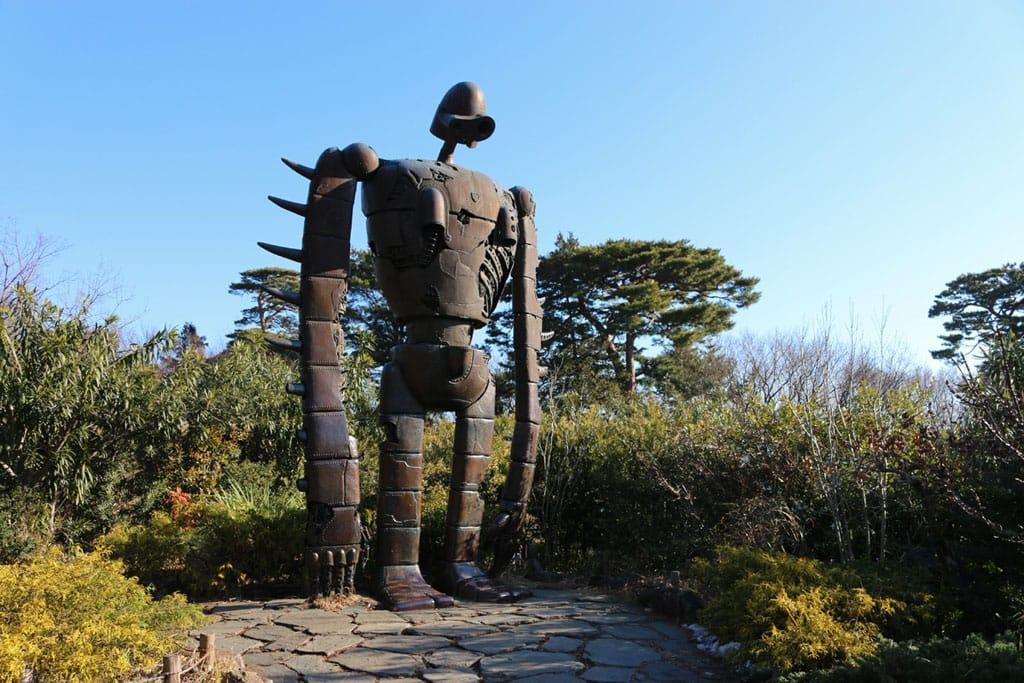 三鷹之森吉卜力美術館中,天空之城裡面的機器人,耳邊不禁響起天空之城悲傷的音樂聲。|來源:matcha-jp.com