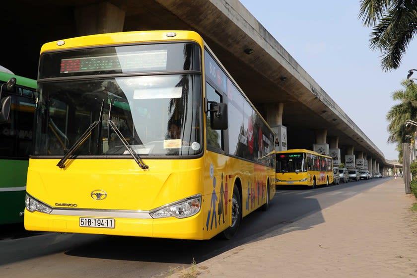 胡志明機場到市區 : 黃色109路公車