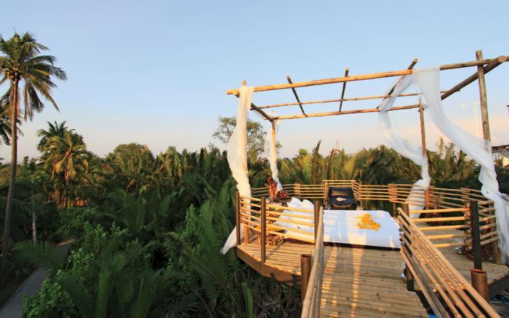 位在雨林中的環保住宿旅店( 圖片來源:goo.gl/7rahpc )
