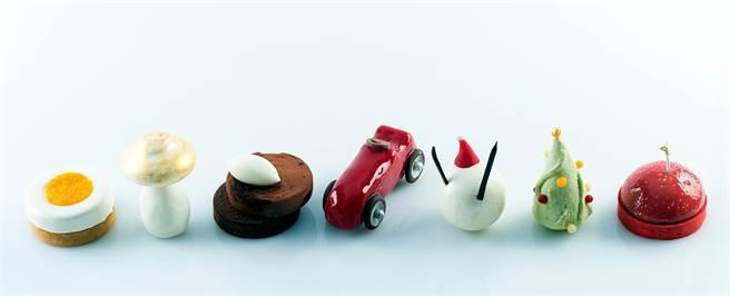 此次台北快閃店的8款限定甜點。圖片來源:台北晶華酒店。
